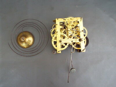 Vintage American clock movement and gong - E N Welch USA - repair or spares