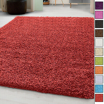 SMALL EXTRA LARGE THICK RUG MODERN 5cm HIGH PILE PLAIN SOFT NON-SHED SHAGGY RUGS