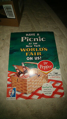 Dr Pepper New York Worlds Fair Poster 1964 Comet Caliente Muscle Beach Party NOS