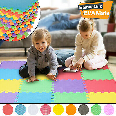 Large Kids Soft Foam EVA Floor Mat Jigsaw Tiles Interlocking Play Babies Puzzle