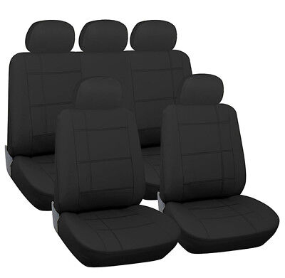 LUXURY BLACK FAUX LEATHER SEAT COVER SET for MERCEDES-BENZ SLK ROADSTER 11-ON