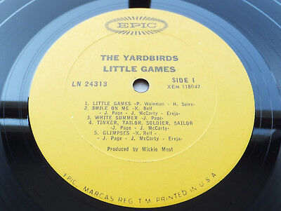 The Yardbirds - Little Games // Orig 1st USA *true* Mono Epic LP 1967 Top Copy