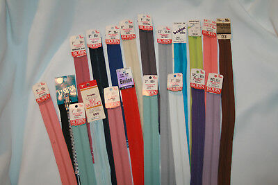 Large Lot of New Vintage Zippers YKK Wrights Robin Coats