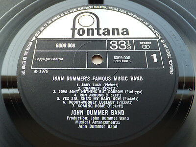 John Dummer's Famous Music Band // Orig 1st UK Fontana LP 1970 Mint Unplayed!!