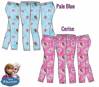 Leggings Disney Frozen full length blue pink new girls