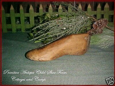 1800's Antique Early Primitive hand carved Child's Wood Shoe Mold Form aafa
