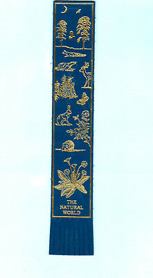 LEATHER BOOKMARK Natural World Hare Butterfly Deer Moon Hedgehog Wildlife Flower