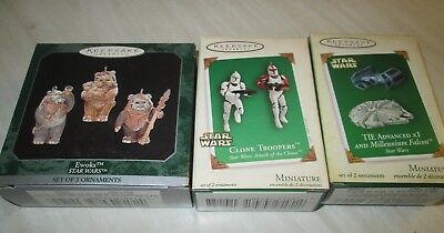 Star Wars Hallmark Keepsake miniature ornaments - 3 sets of ornaments