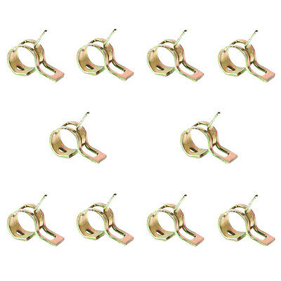 10X Spring Clip Fuel Hose Line Water Pipe Air Tube Clamps Fastener Diameter 6mm