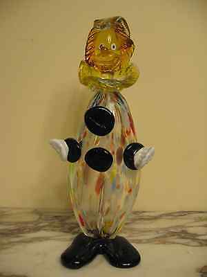Vintage Murano Clown Italian Art Glass figurine