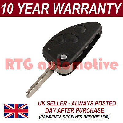 For Alfa Romeo 147 156 166 Gt Gtv 3 Button Flip Key Case Blank Blade Remote