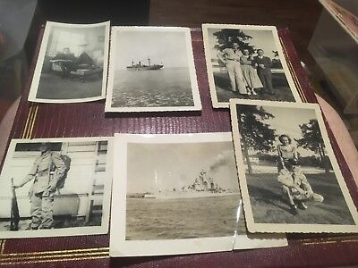 Lot of Original B&W  Old Photos Vintage Snapshots photographs Navy Sailor Army