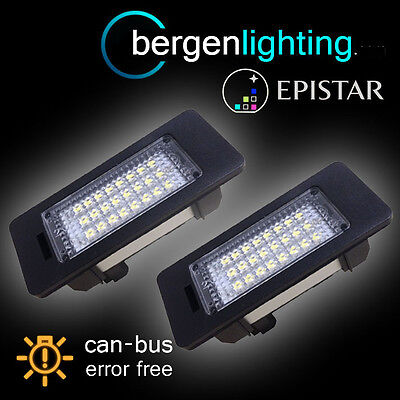 For Bmw X1 E84 X5 E70 X6 E71 24 Led Number Plate Light Lamp Pair