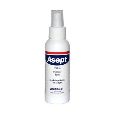 ASEPT liquid for disinfecting and cleansing the skin, Spray 100 ml