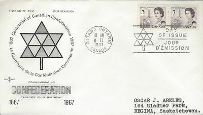 1967 Centennial Definitive #456 3 cent FDC with unusual Rose Craft cachet