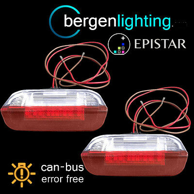FOR SKODA SUPERB 2008 On 18 LED REAR DOOR LIGHT RED/WHITE LIGHT LAMP PAIR