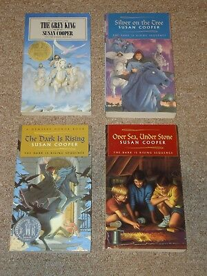 Lot 4 The Dark Is Rising Books Susan Cooper Silver on Tree Grey King Greenwitch