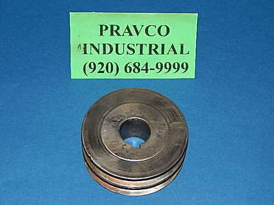 "Double Groove Pulley Sheave 1"" Bore 1/4"" (.25"") Keyway 4"" OD"