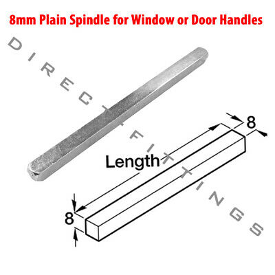 8mm Steel Door Spindle Plain Replacement For Upvc Door Handles and Door Knobs