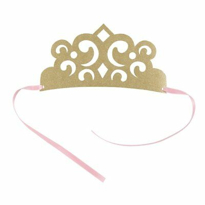 4 x Magical Princess Gold Glitter Party Princess Tiara Princess Crown Hats