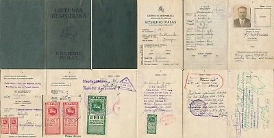 Lithuania 1935, Consular Revenues On Passport Pages. #d1155