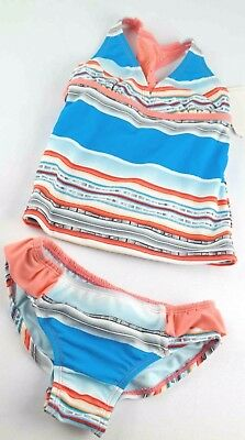 Girls Tommy Bahama Bathing Suit Size 5 T Tankini Two Piece Striped Racer Back