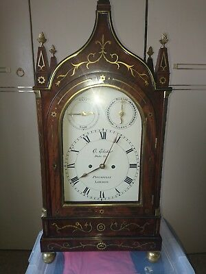 Large Mahogany Triple Fusee Bracket Clock Fully Restored 8 Bells 5 Gongs Stunner