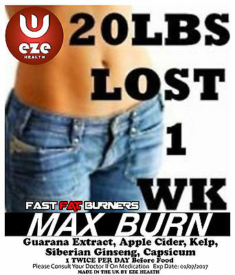 Very Strong  Weight Loss Pills  60 +30 Free 90 Fat Burners  Diet Slimming