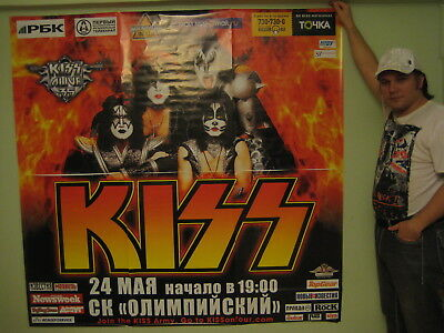 Kiss Large Authentic Extremaly Rare Promo Poster From Russian Show New Promotion