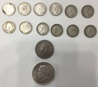Great Britain Silver Coins Lot