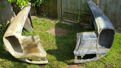 classic mercedes NOS pair of stacked headlight front wings