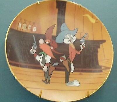 """Fritz Freleng's 1959 """"wild And Wooly Hare"""" Plate No. 373/5,000  1992 Pre Owned"""