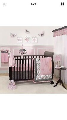 Lambs & Ivy Duchess 11-Pc Crib Bedding Set Include Diaper Stacker,Changing Pad++