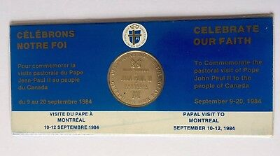 1984 Papal visit to Montreal Commemorative Medaillion