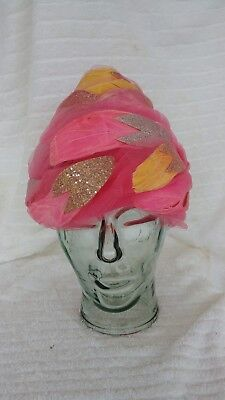 Christian Dior Chapeaux Turban Style Hat 1950's Paris New York