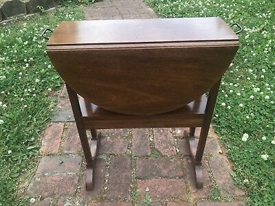Biggs Kittinger Mahogany Narrow Drop Side Occasional Table