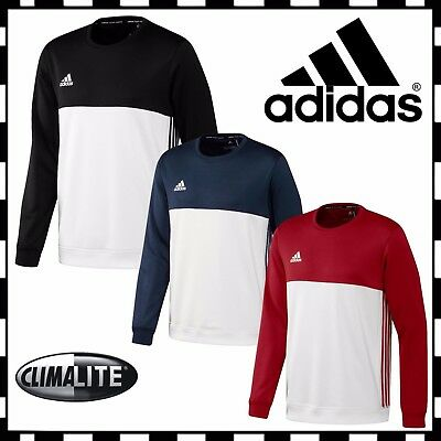 New Adidas T16 Mens Crewneck Teamwear Sports Sweatshirt Jumper Climalite Top