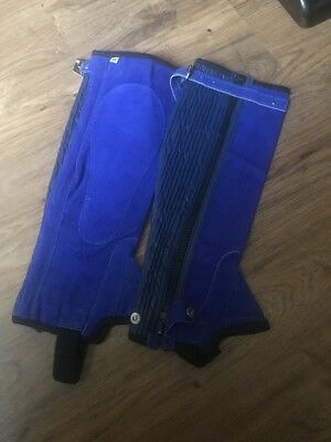 New Without Tags Half Chaps Blue Adult Medium