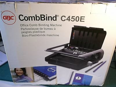 GBC CombBind C450E Comb Binding Machine with Electric Punch