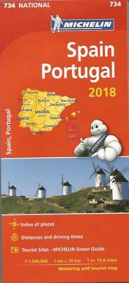 Spain And Portugal Map - New - Michelin 734 - 2018 Edition