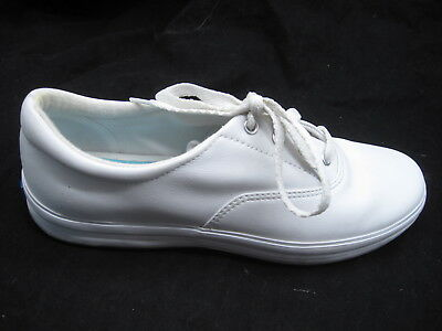 40c170a66bb3a Keds sz 8.5M white leather womens ladies athletic tennis shoes sneaker  WH-03458M