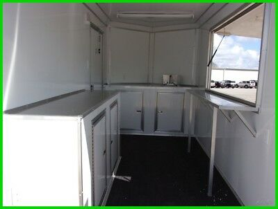 6x12 enclosed cargo concession vending trailer 3x6 window A/C ready e pkg w sink