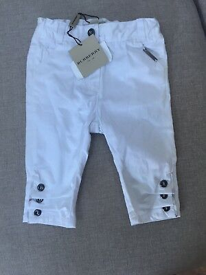 Baby Burberry Trousers Age 6 Months Bnwt £49 Rrp