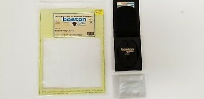 BILLFOLD BADGE CASE  - BOSTON LEATHER - star shaped badge