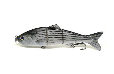 "4.8"" Multi-jointed Bass Pike Fishing Bait Swimbait Lure Life-like Striper NEW"