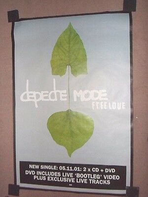 """DEPECHE MODE """"Freelove"""" (Official 60"""" x 40"""" Promotional Poster) NEW and UN-USED"""