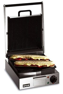 Panini Grill Single - ribbed top and bottom - contact grill