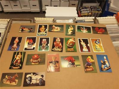 40 yr old Lot Ezra Brooks Bottle Postcards Sports Collectibles & Mascots! 1960's