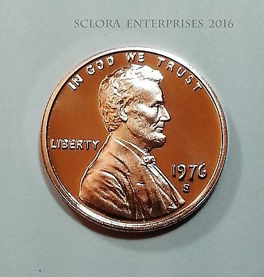 1976 S Lincoln Memorial Cent / Penny  *proof*  **free Shipping**