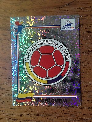 Carte panini France 98 - N° 446 - Colombia - Colombie - logo - ecusson